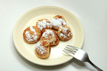 Traditional Dutch Poffertjes