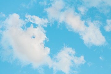 Beautiful Blue Nature Background Sky with clouds
