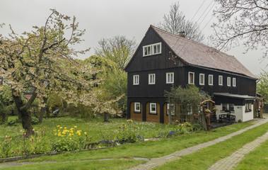House in Herrenwande village in spring day