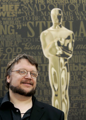 Mexican director Guillermo Del Toro poses as preparations continue for  the 79th Annual Academy Awards in Hollywood