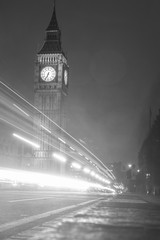The Houses of Parliament and with Big Ben at night