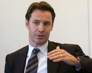 Aaron Regent, President of Falconbridge Ltd., speaks during the Reuters Mining Summit in New York Ju..