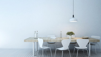 dining room in home or apartment - 3D Rendering