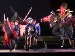 Dancers from the world-famed Lebanese Caracalla Dance Theatre perfom a musical entitled Bilaylet Qam..