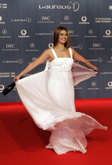 Russian gymnast Alina Kabayeva arrives for the Laureus Sports Awards in the Mariinsky Theatre in St Petersburg