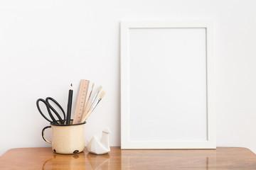 White frame mock up.