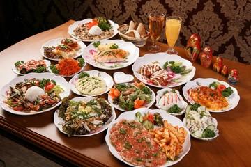 Various russian food, 러시아요리
