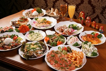 Various russian food