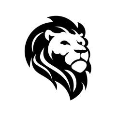 lion head in profile. Template Logo