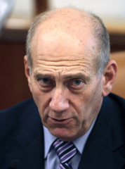 Israel's Prime Minister Olmert attends a meeting in Jerusalem