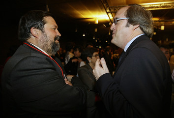 Spain's Justice Minister Caamano and Education Minister Gabilondo attend the celebration of the 200th anniversary of Ibero-America's independence in Madrid