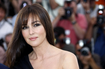 """Italian actress Bellucci poses during a photocall for the film """"Une Histoire Italienne"""" in Cannes"""