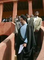 President of Iran Mohammed Khatami visits Gore Island during his stay in Senegal.