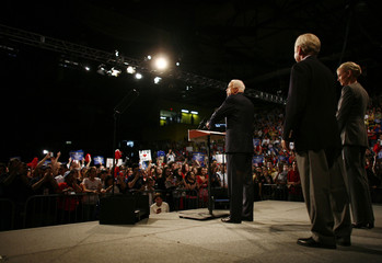 U.S. Republican presidential nominee Sen. John McCain speaks to supporters during a rally in Miami