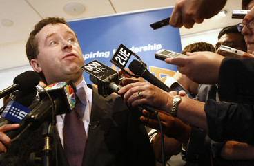 Qantas Airways Ltd CEO Alan Joyce speaks during a news conference in Sydney