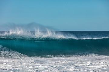 Ocean wave front view