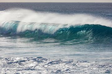 Beach wave breaking