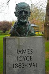 James Joyce's statue in St, Stephen's Green, Dublin, Ireland