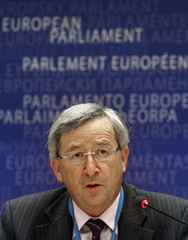 Luxembourg's Finance Minister Juncker addresses the European Parliament in Brussels