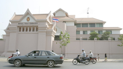 A VIEW OF THE NEWLY REFURBISHED THAI EMBASSY IN PHNOM PENH.