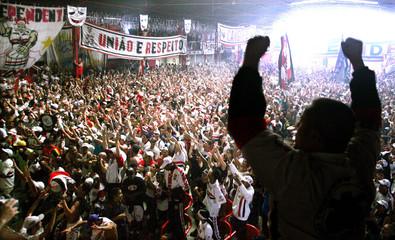Sao Paulo soccer fans celebrate after their team won the FIFA Club World Championship final in Yokohama