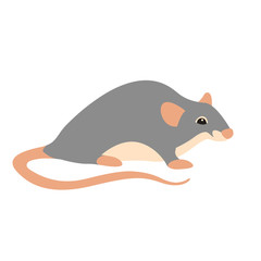 Rat vector illustration style Flat