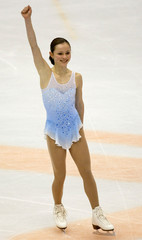AMERICAN FIGURE SKATER COHEN PERFORMS SHORT PROGRAM AT WINTER GAMES.