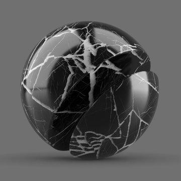 Marble Clean Black