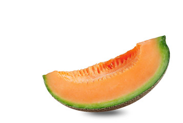 Melon on white background.