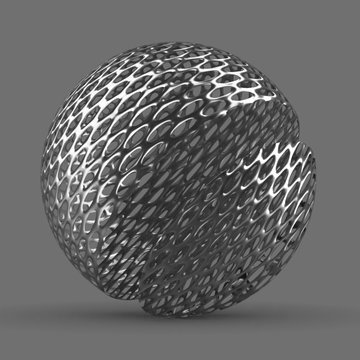 Metal Grid Rounded Patterned