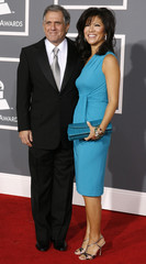 CBS chief executive officer Les Moonves and his wife Julie Chen arrive at the 51st annual Grammy Awards in Los Angeles