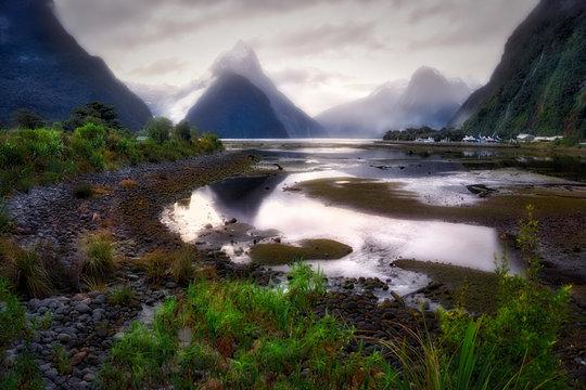 Milford Sound and Mitre Peak