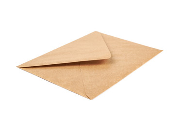 Single closed envelope isolated