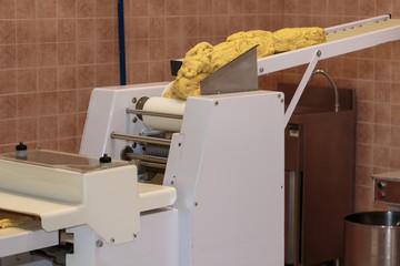 Yellow Italian Taralli Preparation with Food Machine: Traditional Snack