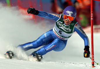 NEF OF SWITZERLAND IN ACTION DURING WOMEN'S GIANT SLALOM EVENT AT WORLDCHAMPIONSHIPS IN ST.MORITZ.