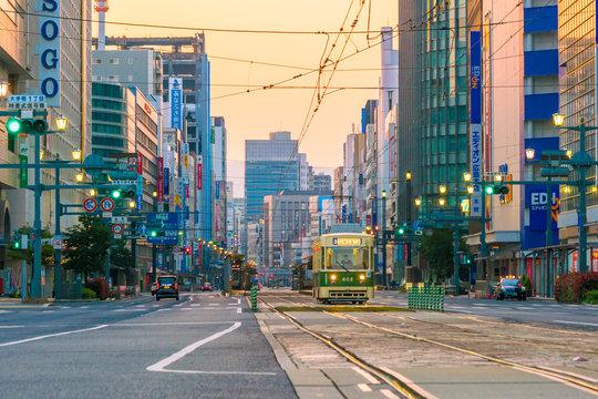 Hiroshima city downtown