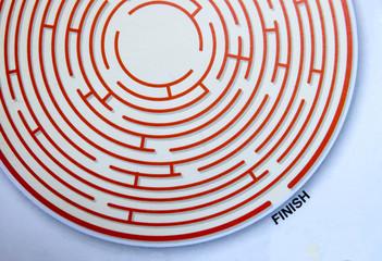 Maze exit ,businees concept