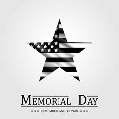 Happy Memorial Day, Star and Flag USA