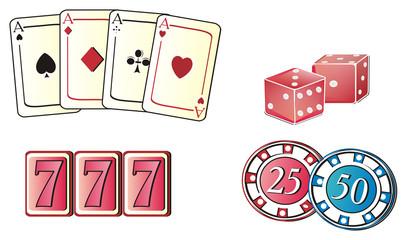 Las vegas, casino,  America, USA, illustration, cartoon, symbol, city, poker, city of sins,  travel, famous , illustration, cards, dice, chips, 777