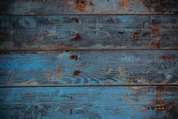 old dark blue wooden background