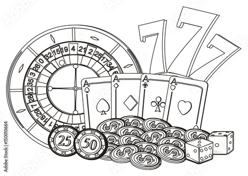 coloring pages of casino - photo#39