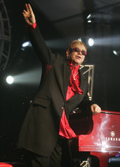 "Elton John performs during ""Dream Ticket"" DVD launch party at Caesars Palace."