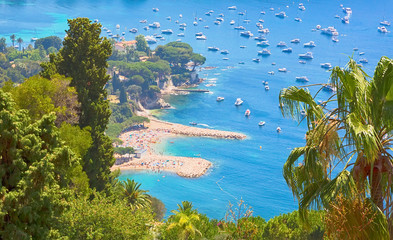 Beautiful Top View of bay Cote d'Azur
