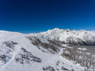 Valmalenco - Ski resort - Winter landscape
