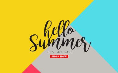 Summer sale background layout.voucher discount.Vector illustration template.
