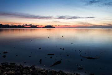 Beautiful sunrise at the beach, Saphan Hin,Phuket,Thailand