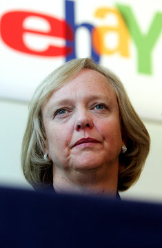 Online auction company EBay Inc.'s Chief Executive Meg Whitman addresses a news conference in Brusse..