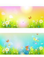 Bright sunshine summer banners