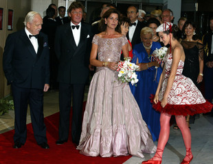 MONACO PRINCELY FAMILY ARRIVES TO ATTEND THE RED CROSS BAL GALA INMONTE CARLO.
