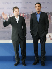 """U.S. actor and director Ben Affleck poses with his brother actor Casey during a photocall for his Film """"Gone Baby Gone"""" at the 33rd Deauville American Film Festival"""
